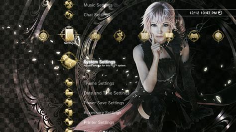 psp theme lightning final fantasy lightning returns final fantasy xiii lumina custom theme