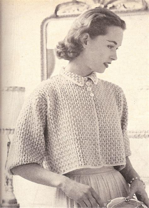 vintage pattern crochet vintage crochet pattern to make boxy shorty bed jacket