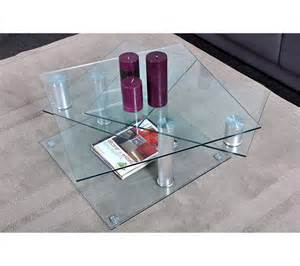 table basse dino 2 verre et chrom 233 tables basses but