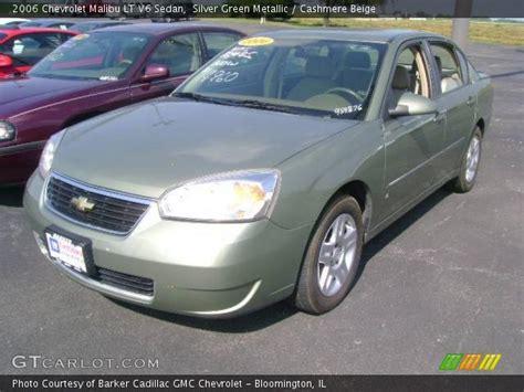 2006 silver chevy malibu silver green metallic 2006 chevrolet malibu lt v6 sedan