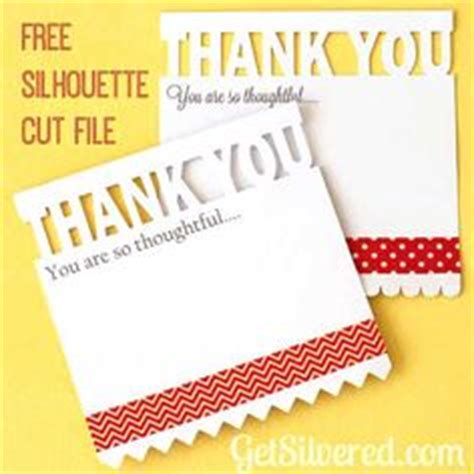silhouette thank you card template cameo files on cutting files silhouette cameo