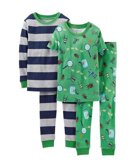 carters for boy s toddler pajamas boys 4 pj set toddler kid