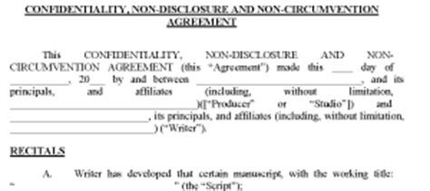 6 non disclosure non circumvention agreement purchase