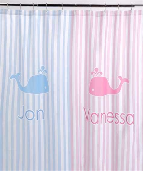 personalized shower curtain striped w whales shower curtain personalized you