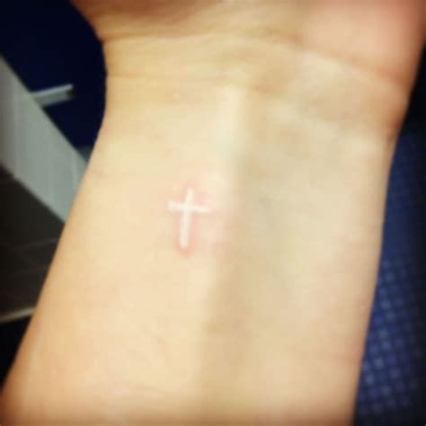 small white wrist tattoos white cross on wrist www imgkid the image