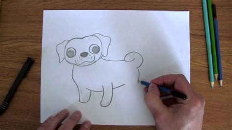 simple pug drawing how to draw easy pug puppy