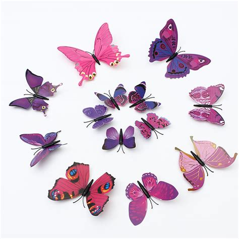 12pcs 3d butterfly wall stickers 12pcs 3d butterfly wall stickers fridge magnet for home