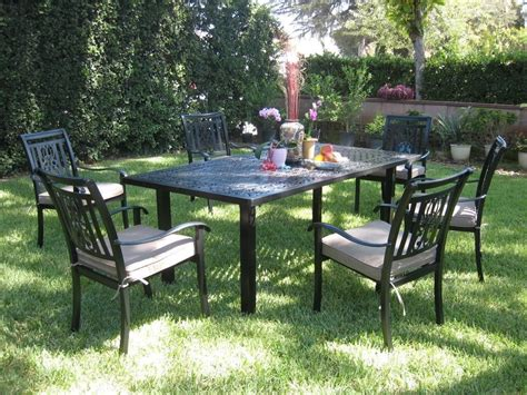 cbm outdoor cast aluminum 7 patio dining set a with
