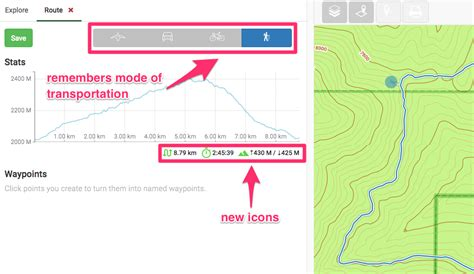 road trip map maker usa web updates better routing enhanced details page gaia gps