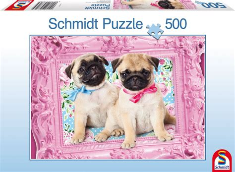 3d pug puzzle pug and puglet jigsaw puzzle puzzlewarehouse