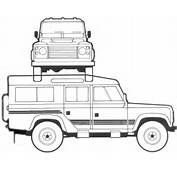Defender 110 Colouring Pages