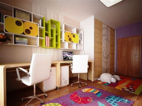 Childrens Bedroom Decor by Room Modern Plywood Study Table With Colourful Book