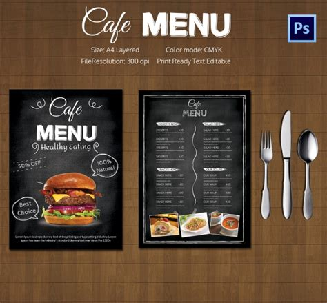 cafe menu design template free restaurant flyer template 56 free word pdf psd eps