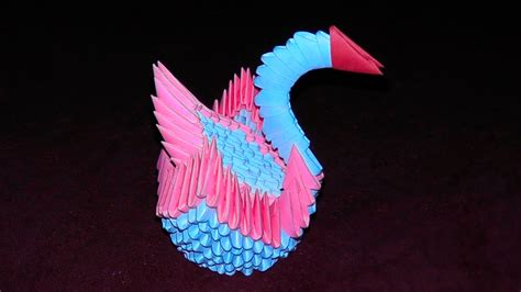 origami swan tutorial 3d origami swan with backrest tutorial