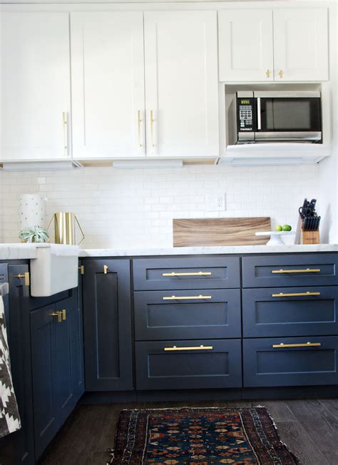 navy blue cabinet pulls navy kitchen cabinets with gold hardware home design ideas