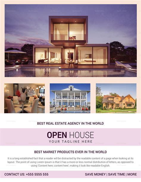 real estate open house template real estate agency open house flyer design template in