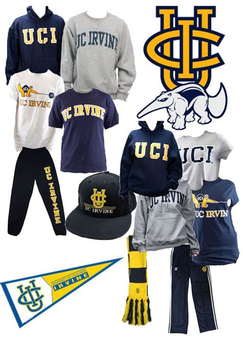 uc irvine colors uc irvine anteaters blue and yellow gear show your