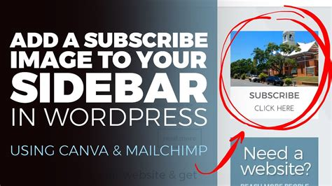 canva newsletter mailchimp add a subscribe image to your sidebar in wordpress with