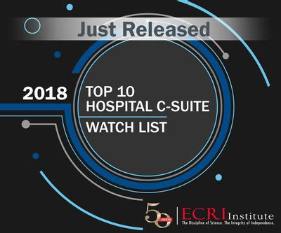 Top Mba Leading To C Suite by Ecri Institute Sheds Unbiased Light On New Healthcare