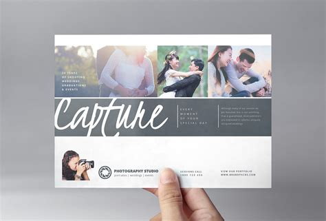 photography brochure templates wedding photographer flyer template v3 brandpacks