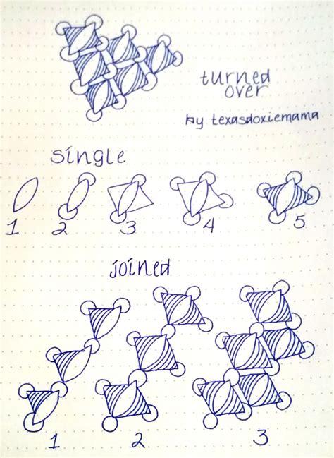 cenefas mandalas turned over tangle zentangle quot t quot pinterest