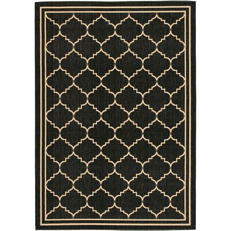 indoor outdoor rugs home depot safavieh courtyard black 6 ft 7 in x 9 ft 6 in