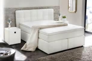 lit boxspring b 196 rbel 140x200cm blanc sb meubles discount