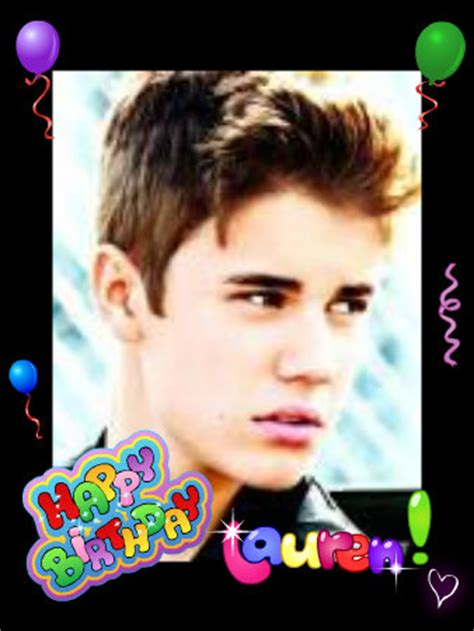 happy birthday justin bieber free download happy birthday lauren justin bieber fan art 33279618