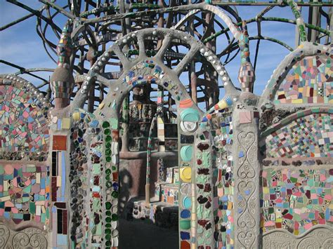 How To Build A Concrete Block House by History Los Angeles County Watts Towers As Mosaic Art