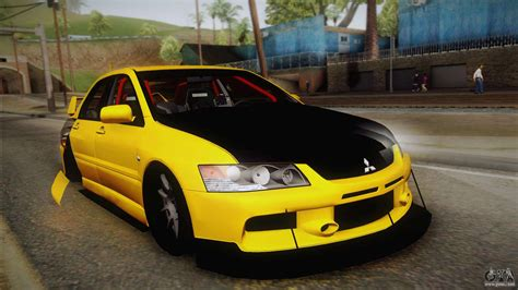 mitsubishi gta mitsubishi lancer evolution ix tuned for gta san andreas