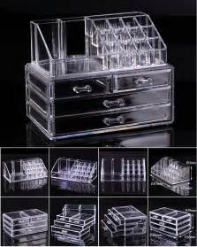clear acrylic cosmetic organizer makeup drawers display