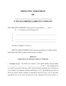 Limited Liability Company Agreement Template Texas Llc Company Agreement Fill Online Printable
