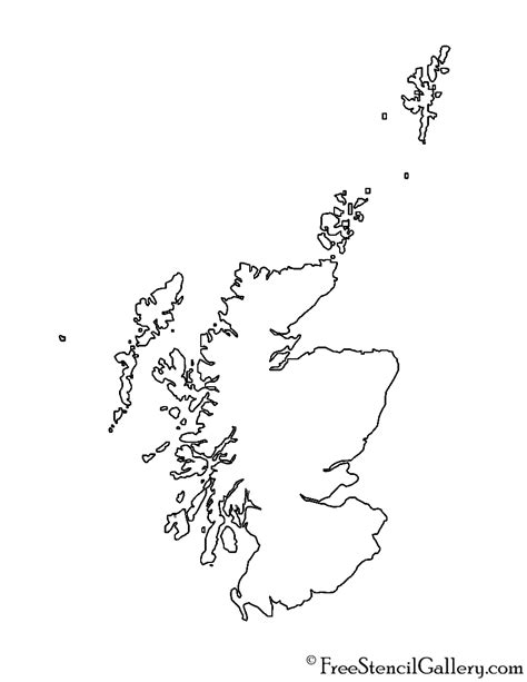 Scottish Outline by Scotland Stencil Free Stencil Gallery