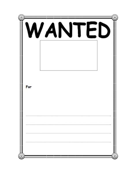 18 Free Wanted Poster Templates Fbi And Old West Free Free Template Downloads Free Wanted Poster Template