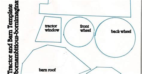 tractor template printable tractor barn template designs for crafts teaching