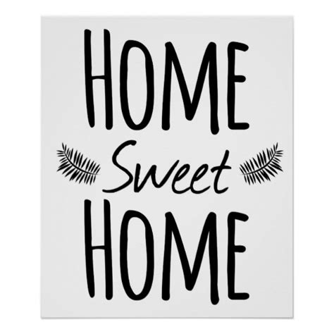 home sweet home typography poster zazzle au
