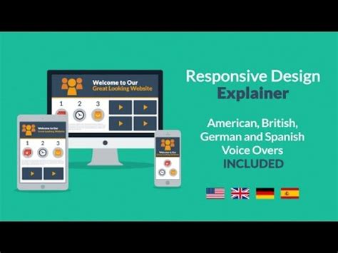 responsive layout youtube responsive design explainer after effects project youtube