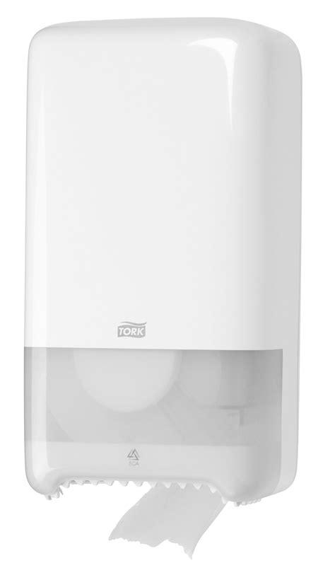 dispenser toilet paper tork  white