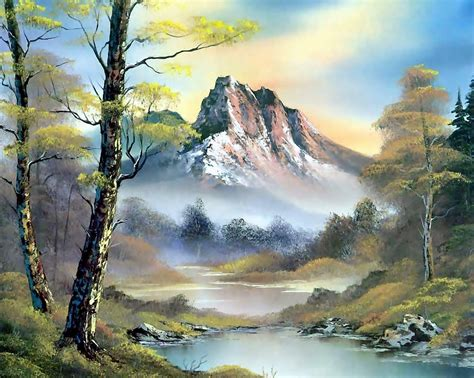 bob ross painting forest painting bob ross bob ross pattern landscape nature