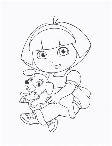 dora princess coloring pages coloring home
