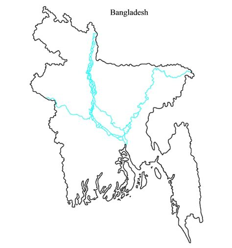 coloring page of bangladesh map outline maps