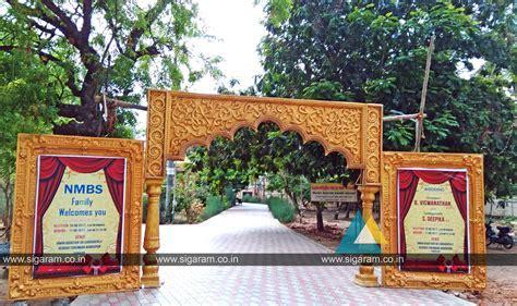 Reception stage decoration at Subburayalu Reddiar Kalyana