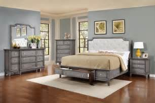 Gray Bedroom Furniture by Anastasia Grey Bedroom Set