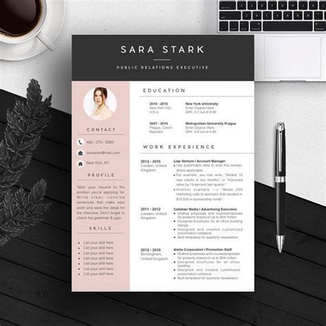 template cv menarik gratis word professional resume template bundle cv package with