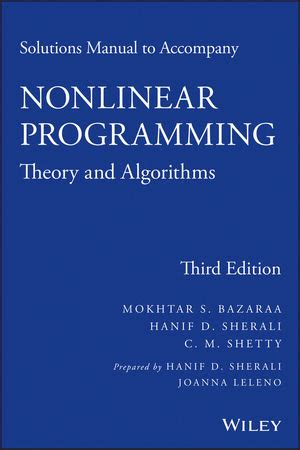 solutions manual to accompany analysis and design of digital integrated circuits wiley solutions manual to accompany nonlinear programming theory and algorithms 3rd edition