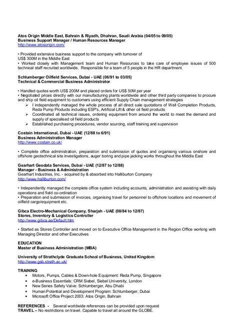 Business Support Manager Sle Resume by Koshy Samuel Resume Feb 2016