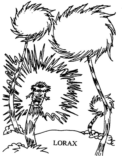Free Dr Seuss Read Across America Coloring Pages Dr Seuss The Lorax Coloring Pages
