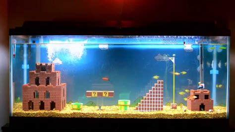 Mario Brothers Aquarium Decorations by Mario Bros Aquarium With Fish