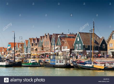 buy a house in holland boats and houses in a holland port volendam waterland municipality stock photo