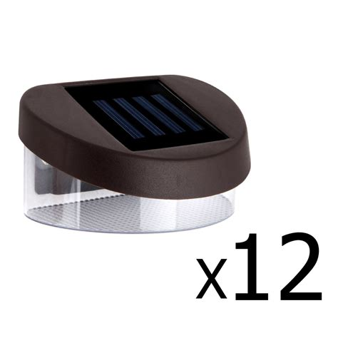 gutter solar lights 12x solar fence light solar gutter light outdoor garden